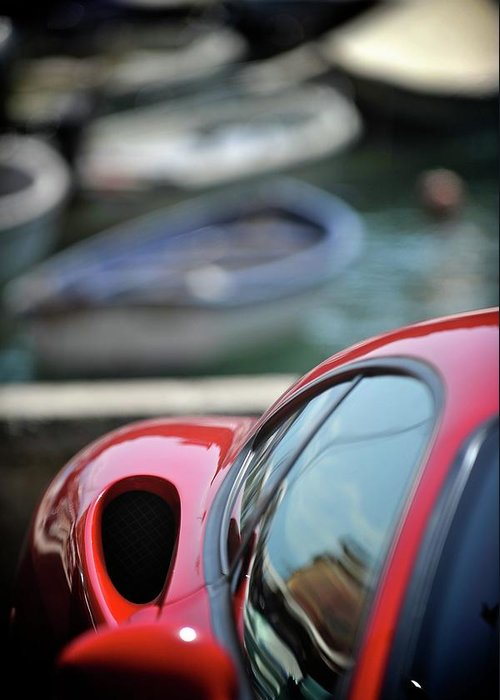 Cars Greeting Card featuring the photograph Ferrari 3 by Bobby Bouchikhi