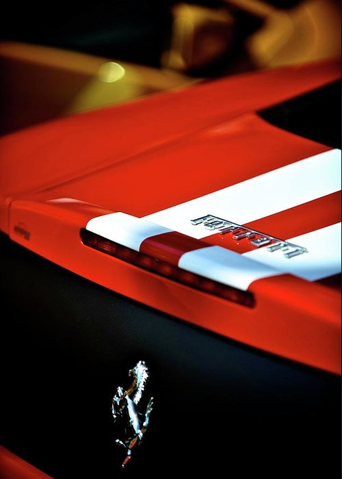 Cars Greeting Card featuring the photograph Ferrari by Bobby Bouchikhi