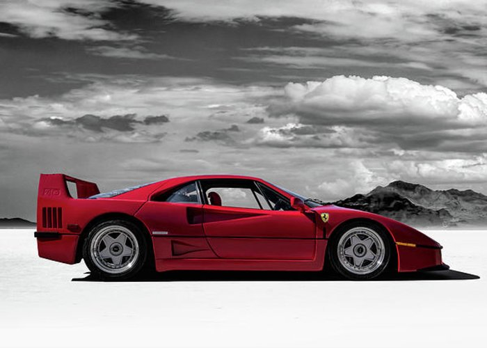 Ferrari F40 For Sale >> Ferrari F40 Greeting Card