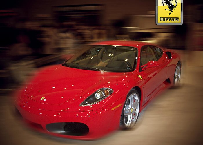 �auto Corner� Collection By Serge Averbukh Greeting Card featuring the photograph Ferrari F430 - The Red Beast by Serge Averbukh