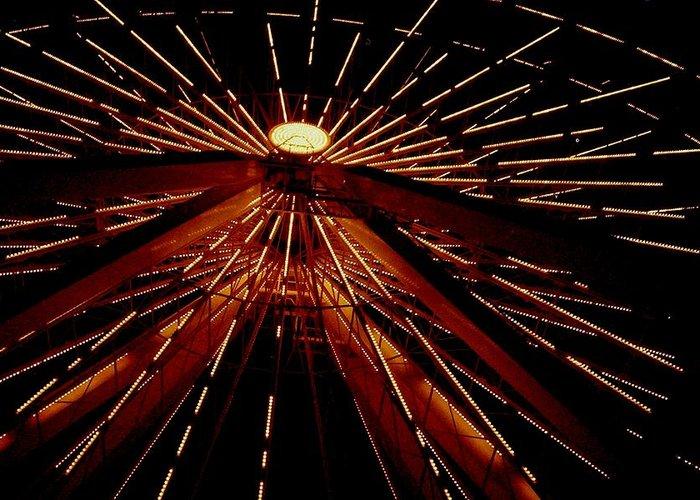 Ferris Wheel Greeting Card featuring the photograph Ferris Wheel by Jennifer Englehardt