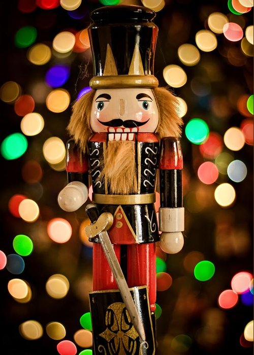 Christmas Greeting Card featuring the photograph Festive Nutcracker by Devina Browning