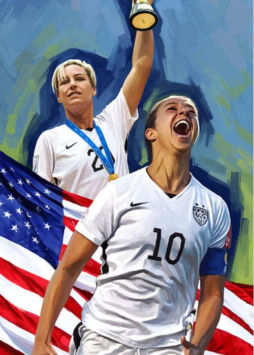 Women Soccer Greeting Cards