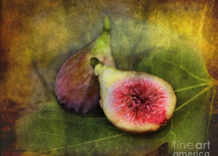 Figs Greeting Card featuring the photograph Figs by Sari Sauls