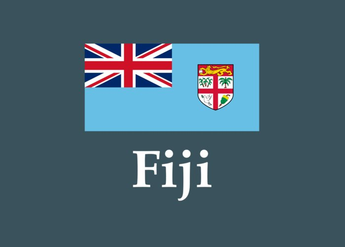 Fiji Flag And Name Greeting Card for Sale by Frederick Holiday