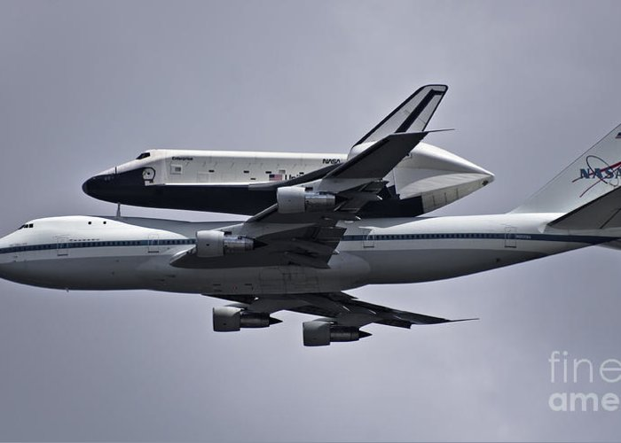 Space Greeting Card featuring the photograph Final Approach by Scott Evers