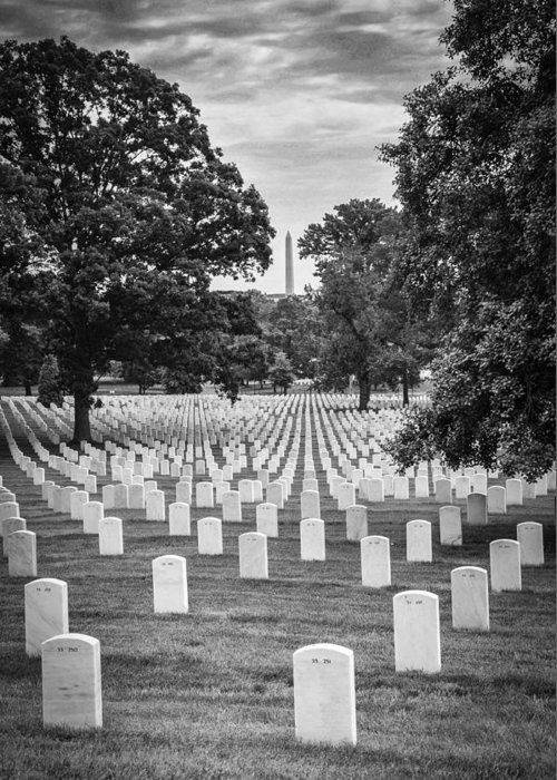 Arlington National Cemetary Greeting Card featuring the photograph Final Rest by Frank Mari