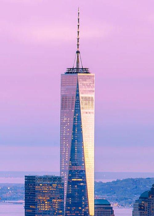 World Trade Center Greeting Card featuring the photograph Finance Romance by Az Jackson