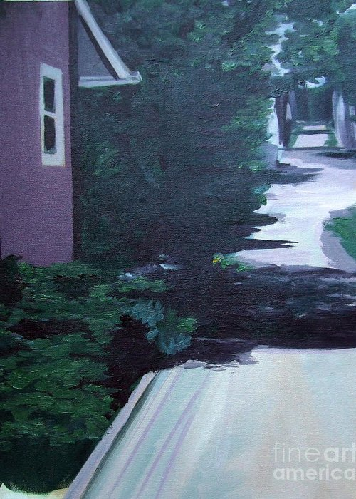 House Greeting Card featuring the painting Findley Alley by Vanda Sucheston Hughes