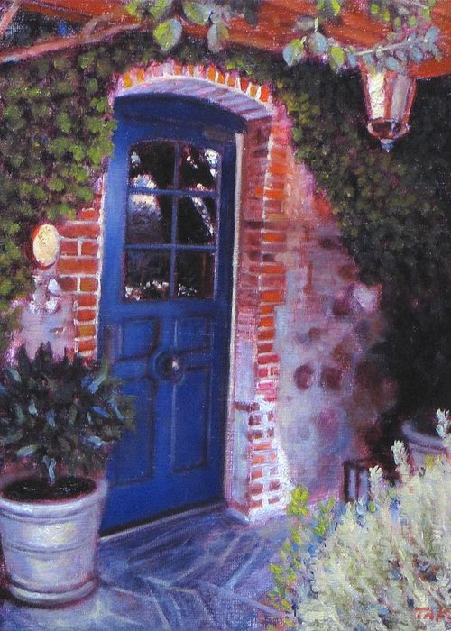 Landscape Greeting Card featuring the painting Fine French Restraunt French Laundry With Rosemary by Takayuki Harada