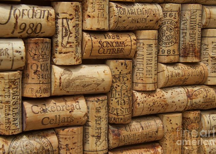 Wine Cork Greeting Card featuring the photograph Fine Wine by Anthony Jones