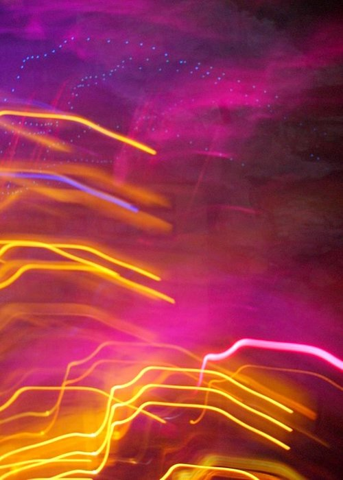 Abstract Greeting Card featuring the photograph Fingers of Light by Lessandra Grimley