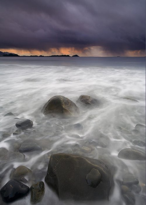 Storm Greeting Card featuring the photograph Fingers Of The Storm by Mike Dawson