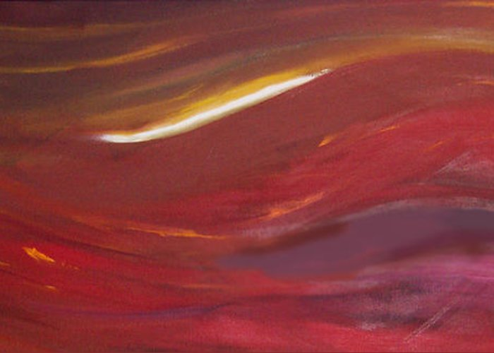 Abstract Greeting Card featuring the painting Fire And Ice by Anne Trotter Hodge