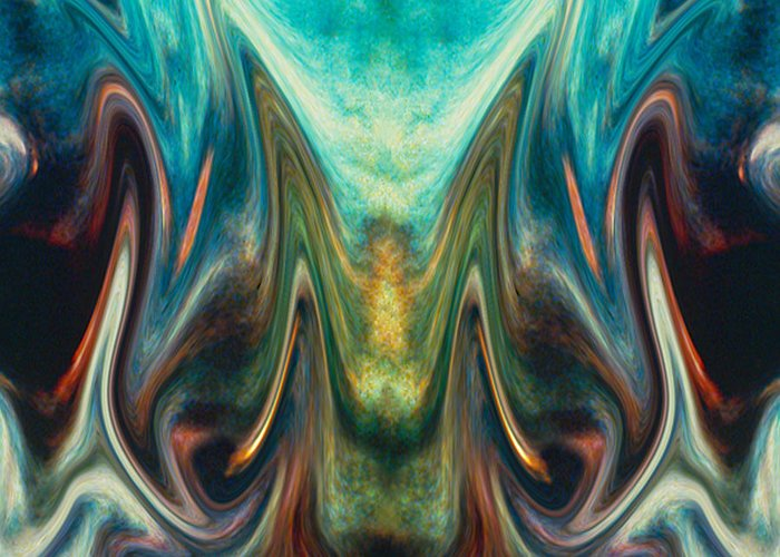 Abstract Greeting Card featuring the digital art Fire Birth by Tom Romeo