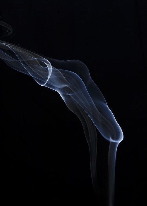Smoke Greeting Card featuring the photograph Fire by Bryan Steffy