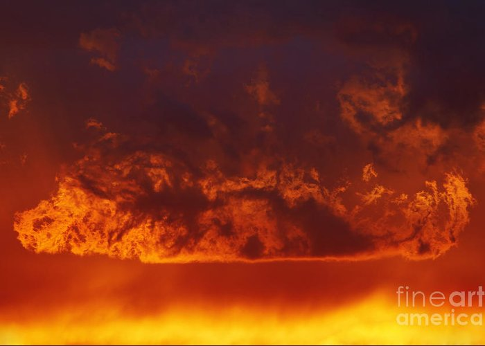 Sunset Greeting Card featuring the photograph Fire Clouds by Michal Boubin