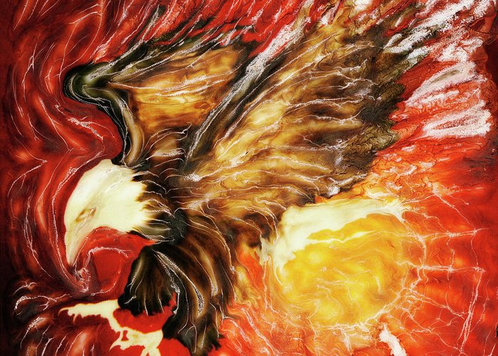 Paul Tokarski Greeting Card featuring the photograph Fire Eagle by Paul Tokarski
