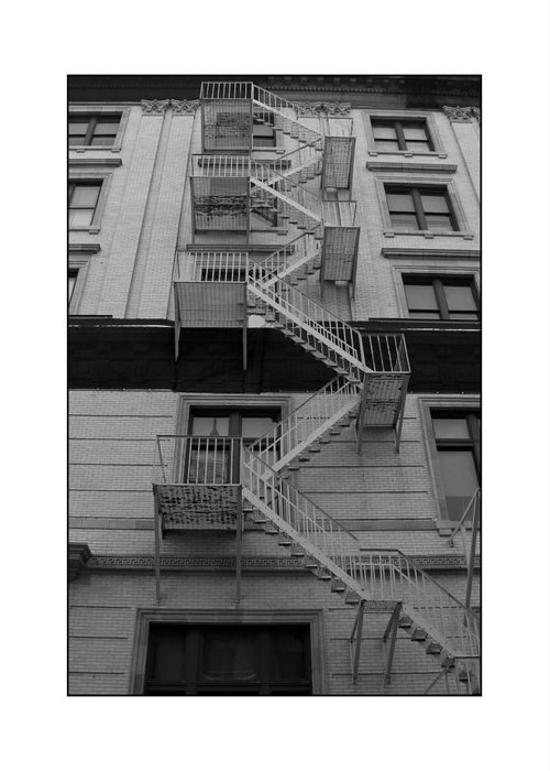 Fire Escape Greeting Card featuring the photograph Fire Escape by Filipe N Marques