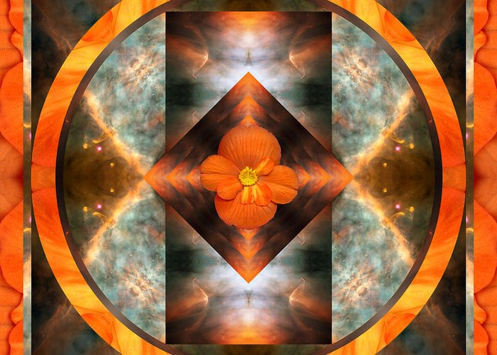 Yoga Art Greeting Card featuring the photograph Fire Light by Bell And Todd
