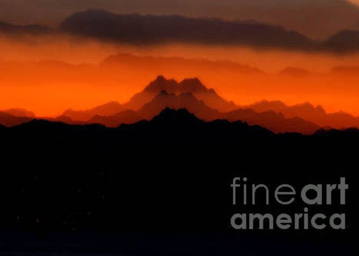 Mountain Greeting Card featuring the photograph Fire On The Mountain by Michael Ziegler
