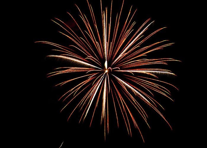 Frieworks Greeting Card featuring the photograph Fire Works by Gary Langley