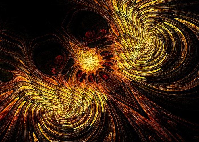 Firebird Greeting Card featuring the digital art Firebird by John Edwards