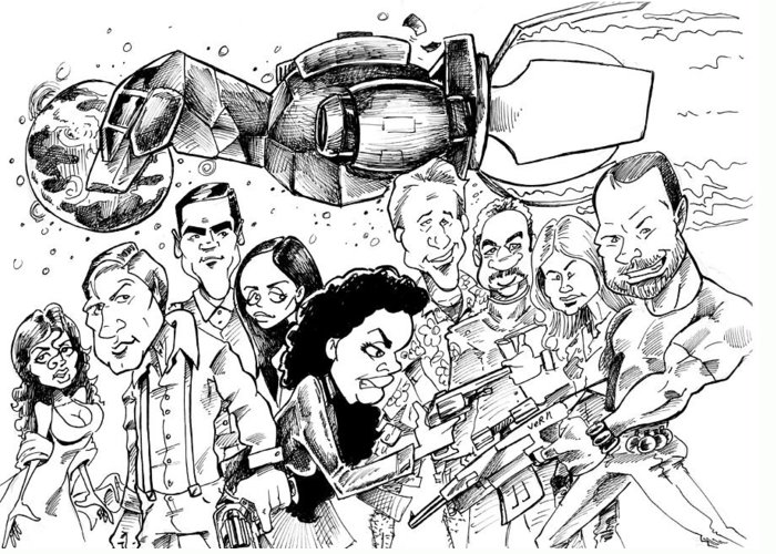 Firefly Greeting Card featuring the drawing Firefly by Big Mike Roate