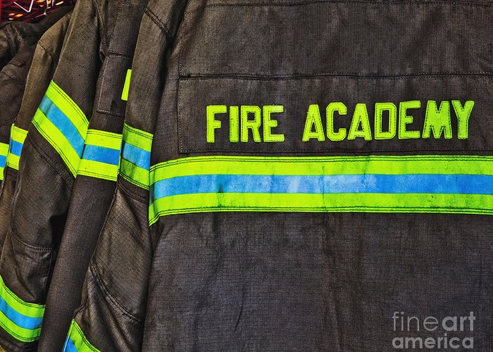 Accomplishment Greeting Card featuring the photograph Fireman Jackets by Skip Nall