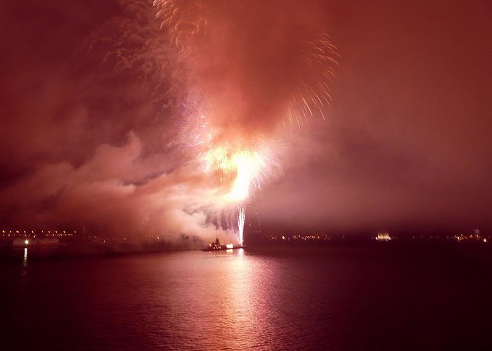 Fireworks Greeting Card featuring the photograph Fireworks 20 by Kendall Eutemey