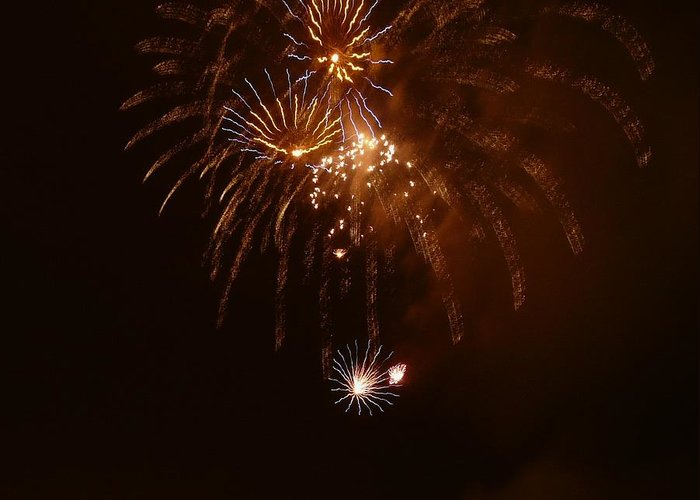 Fireworks Greeting Card featuring the photograph Fireworks 4 by Kendall Eutemey