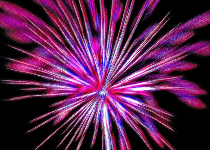 Fireworks Greeting Card featuring the photograph Fireworks Americana by Steve Ohlsen