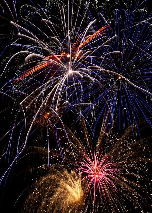 Fireworks 4th Of July Greeting Card featuring the photograph Fireworks Celebration by Garry Gay
