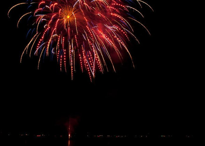 Fireworks Greeting Card featuring the photograph Fireworks II by Christopher Holmes