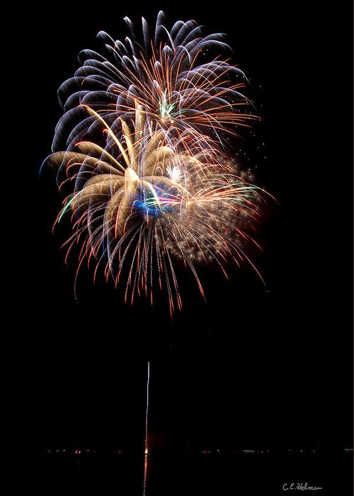 Fireworks Greeting Card featuring the photograph Fireworks IIi by Christopher Holmes