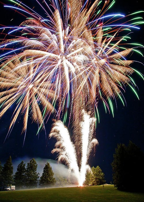 Fireworks Greeting Card featuring the photograph Fireworks No.4 by Niels Nielsen
