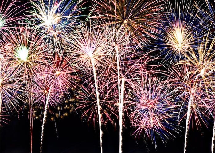 4th Greeting Card featuring the photograph Fireworks Spectacular by Ricky Barnard