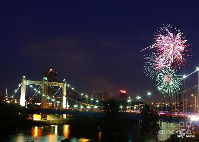 4th Of July Greeting Card featuring the photograph Fireworks by Tracy Reese
