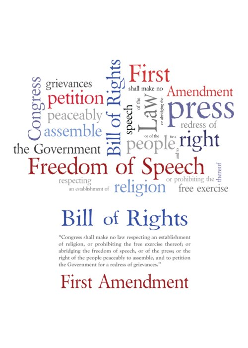 First Amendment Digital Art Greeting Cards