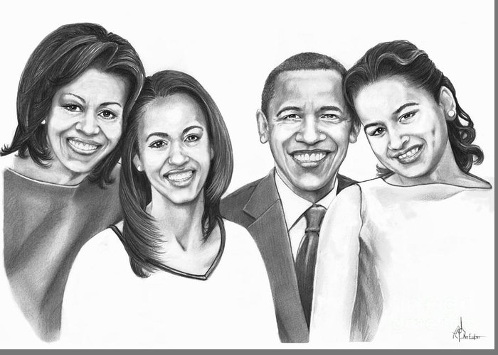 Obama Family Greeting Cards