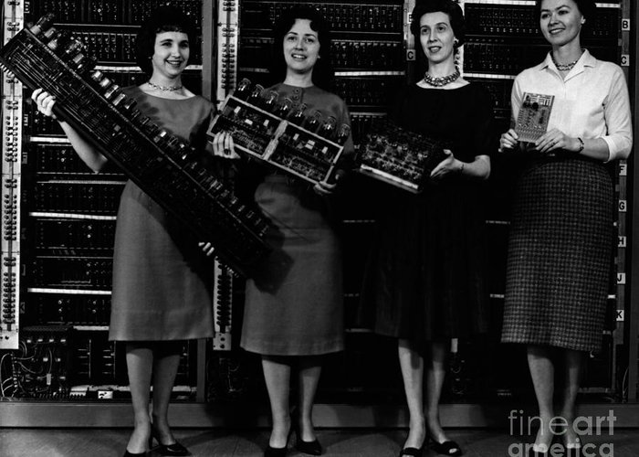 Black And White Greeting Card featuring the photograph First Four Computer Circuit Boards by Science Source