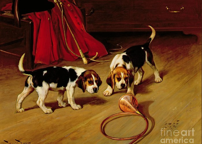 Two Hounds Greeting Cards