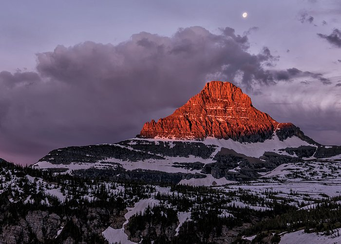 Loree Johnson Photography Greeting Card featuring the photograph First Light At Logan Pass - Glacier National Park by Loree Johnson