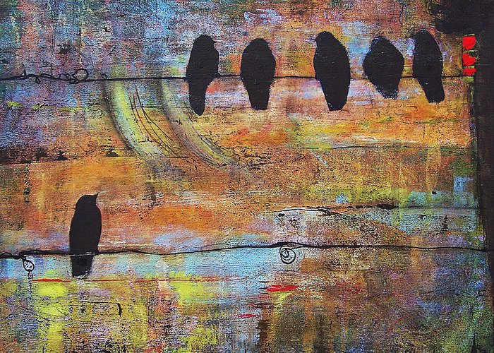 Art On Wall Greeting Cards