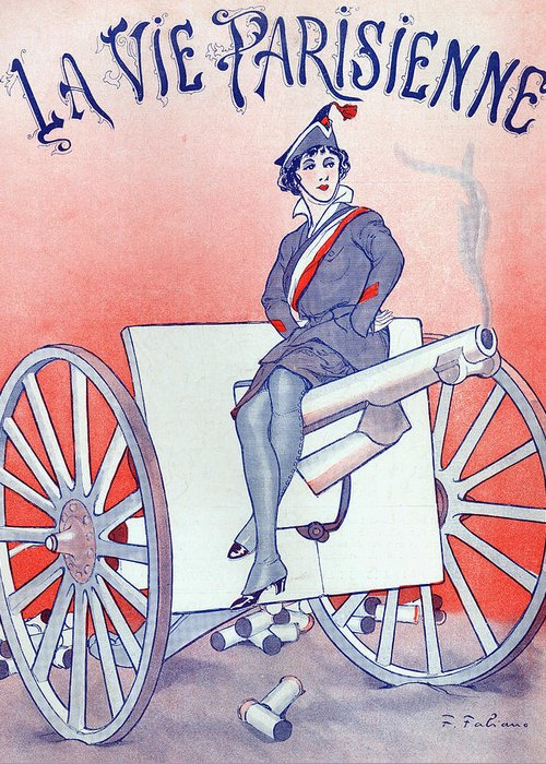 War Propaganda Drawings Greeting Cards