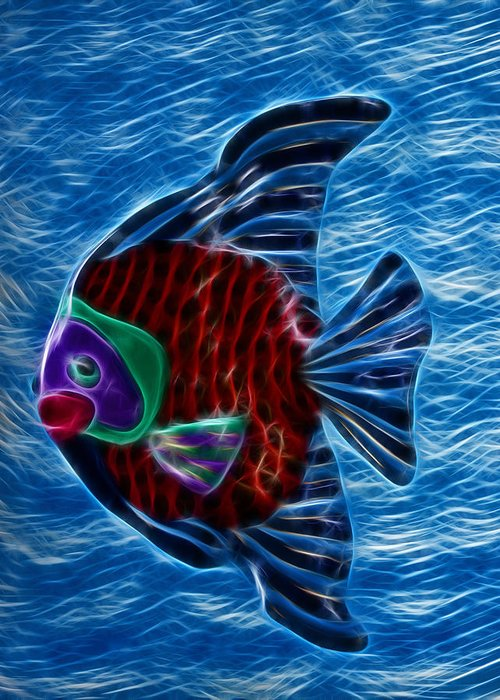 Fish Greeting Card featuring the photograph Fish In Water by Shane Bechler