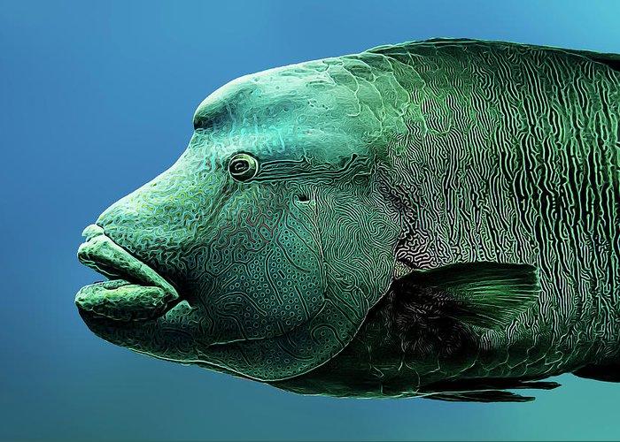 Aquarium Greeting Card featuring the photograph Fish Lips by Janet Fikar