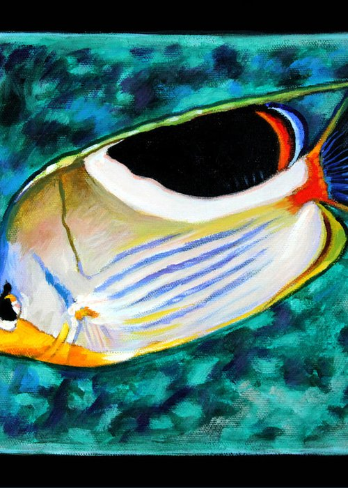 Ocean Fish Greeting Card featuring the painting Fish Number Eleven by John Lautermilch