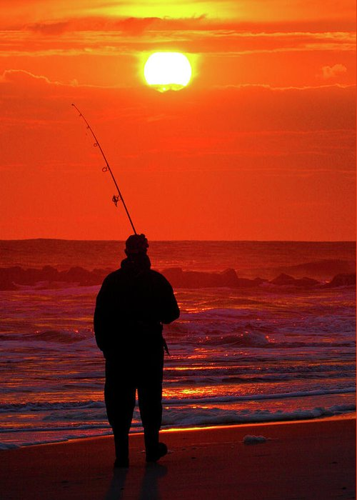 Atlantic Greeting Card featuring the photograph Fisherman by David Hahn