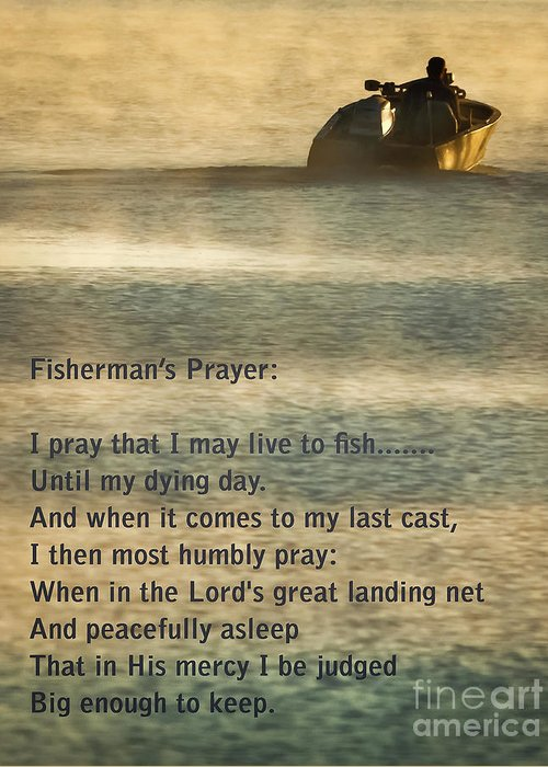 Fishing Greeting Card featuring the photograph Fisherman's Prayer by Robert Frederick